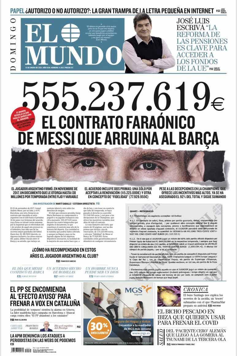 Λιονέλ Μέσι - El Mundo - εφημερίδα
