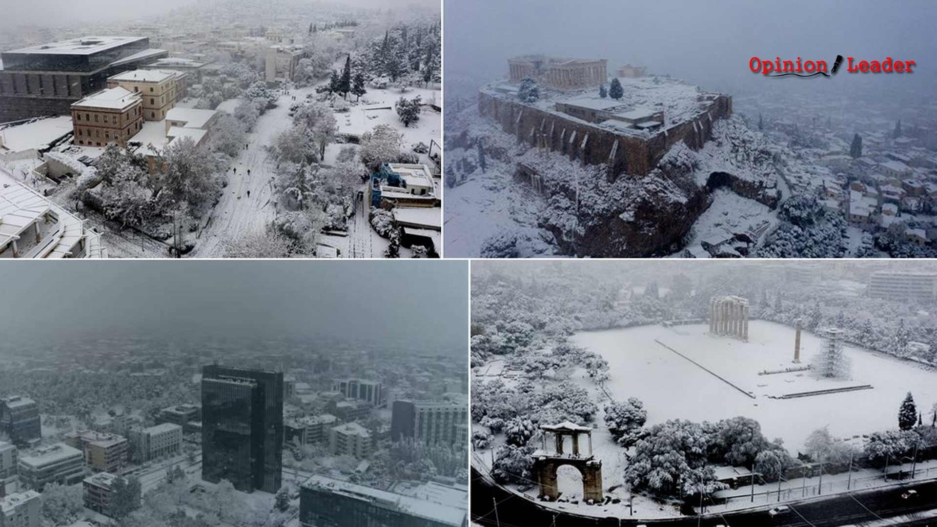 Κακοκαιρία - Μήδεια - χιόνι - Αθήνα