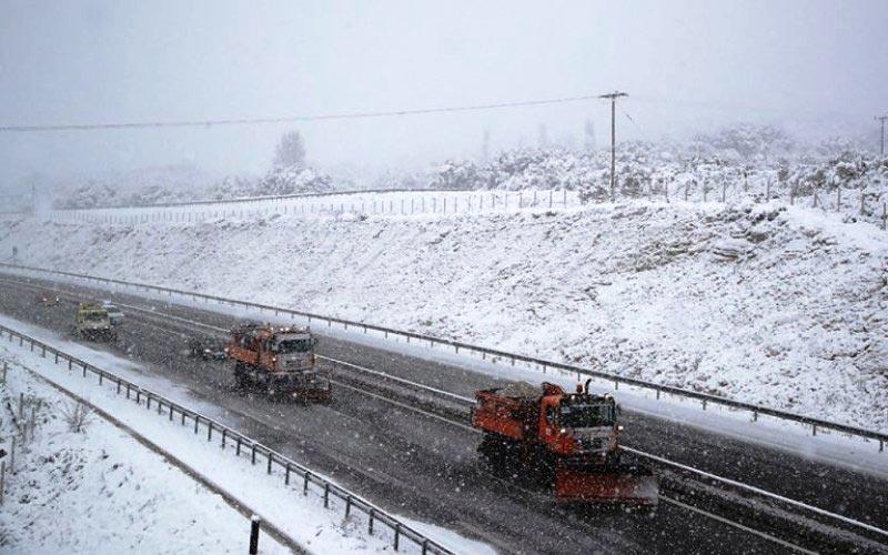 χιονοπτώσεις - εθνική οδός