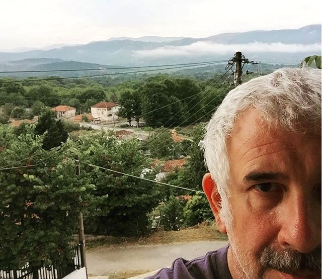Ο Πέτρος Φιλιππίδης στο χωριό Κουκλιοί