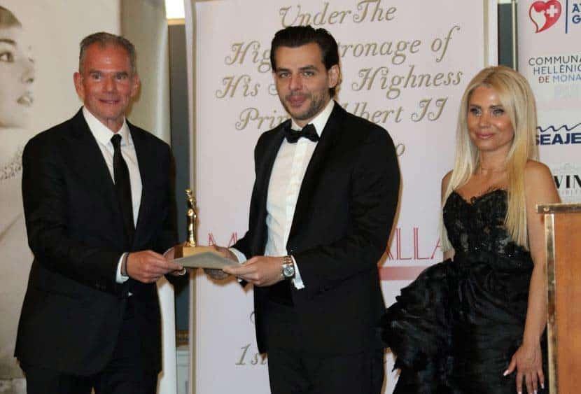 Γρηγόρης Στασινόπουλος, Δρ. Βασίλης Γ. Αποστολόπουλος, η Πρόεδρος και ιδρύτρια του Maria Callas Monaco Gala & Awards, Ιωάννα Ευθυμίου