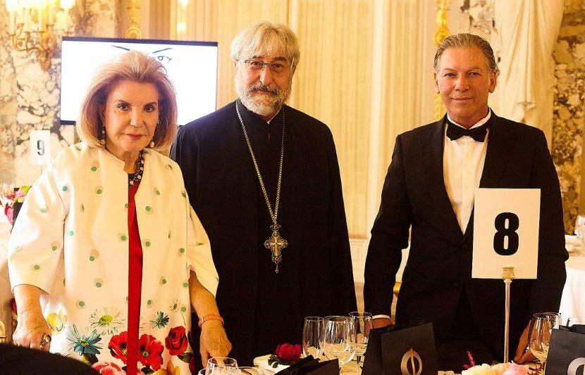 Λιάνα Σκουρλή, ο Αρχιπρεσβύτερος της Ελληνικής εκκλησίας του Μονακό και της Κυανής Ακτής, κ.κ. Μιχαήλ Σεληνιωτάκης, Αθηναγόρας Ανδριαδάκης