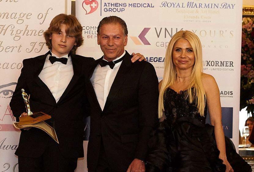 Μηνάς Ανδριαδάκης, Αθηναγόρας Ανδριαδάκης, η Πρόεδρος και ιδρύτρια του Maria Callas Monaco Gala & Awards, Ιωάννα Ευθυμίου