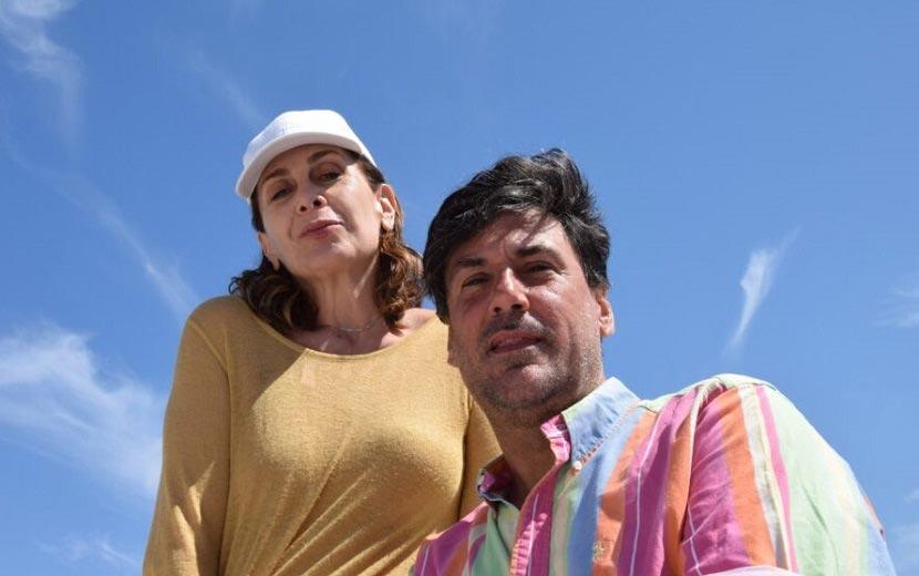 Η ηθοποιός Κατερίνα Διδασκάλου και ο δημοσιογράφος Χρήστος Νέζος