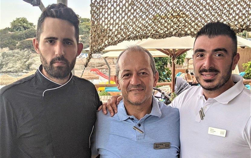 Κωνσταντίνος Κωνσταντίνου, Κωνσταντίνος Γιαβρής και ο Νίκος Ασλανίδης του ξενοδοχείου EverEden Beach Resort Hotel & Spa