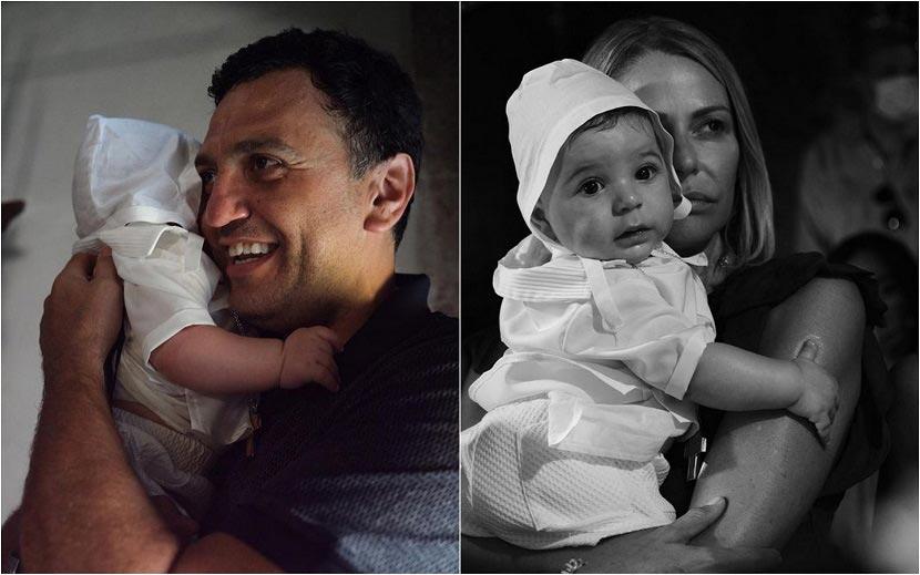 Βασίλης Κικίλιας, Τζένη Μπαλατσινού βάφτισαν τον γιο τους στην Πάτμο