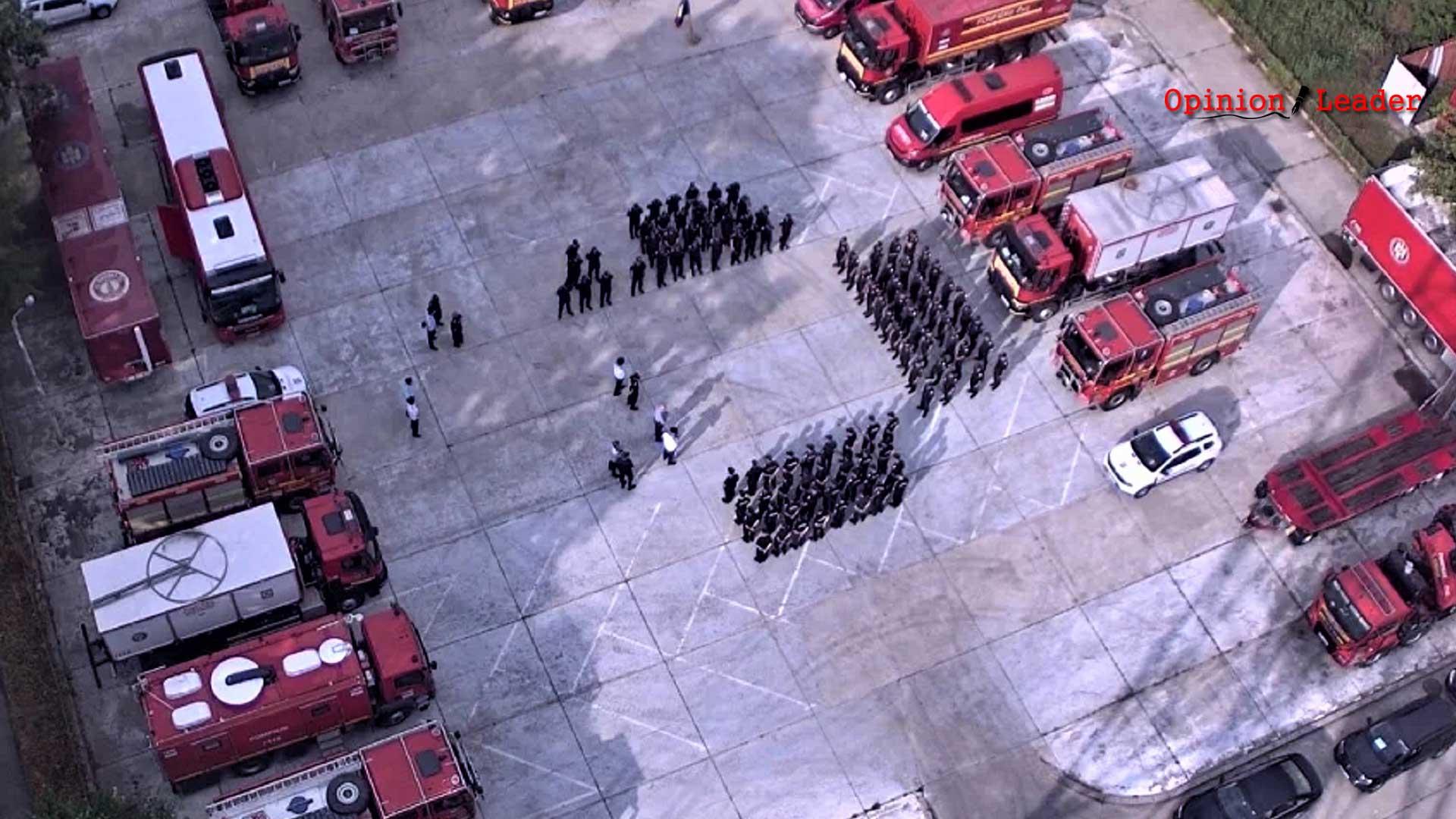 Φωτιά Εύβοια - Ρουμάνοι πυροσβέστες