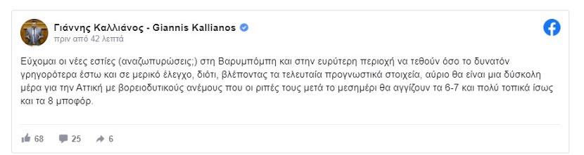 Γιάννης Καλλιάνος - facebook