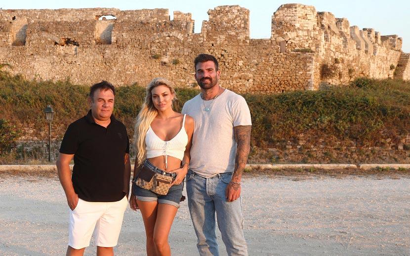 Ο επιχειρηματίας Κωνσταντίνος Κατάτσης με την Αλεξάνδρα και τον Δημήτρη