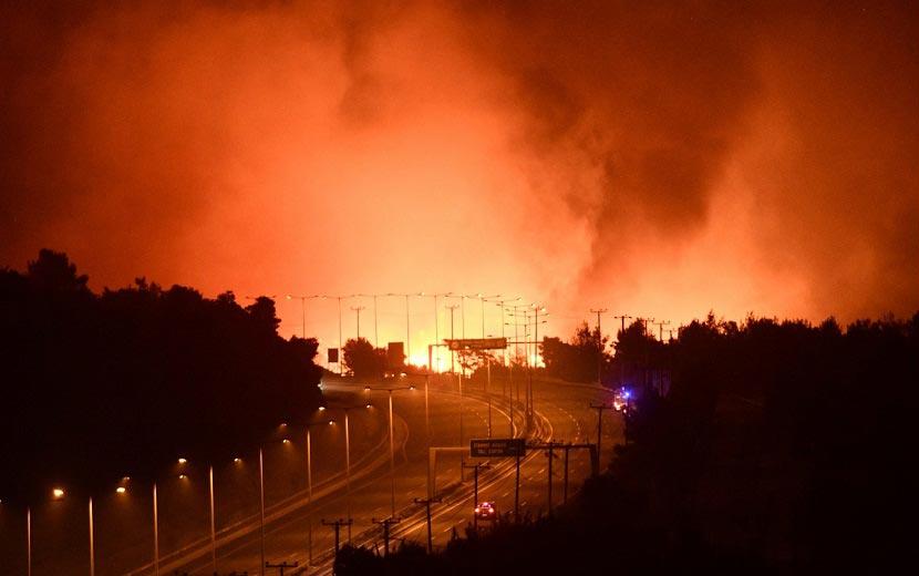 πυρκαγιά - Εθνική Οδό Αθηνών - Λαμίας - Αφίδνες