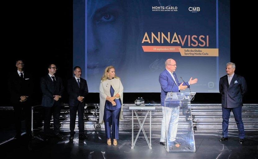 Πρίγκιπας Αλβέρτος του Μονακό - Άννα Βίσση - συναυλία