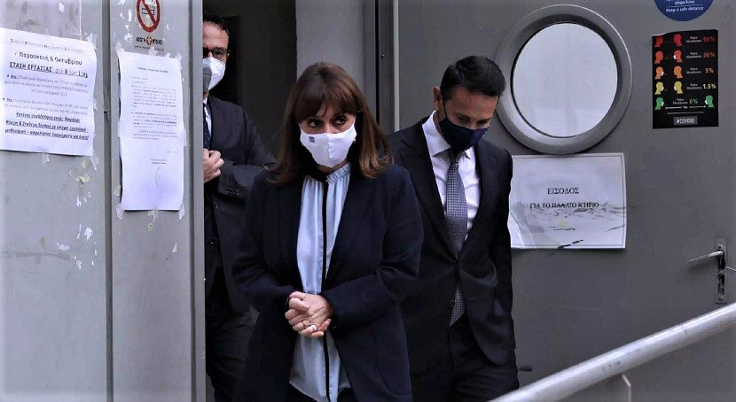 H Πρόεδρος της Δημοκρατίας Κατερίνα Σακελλαροπούλου στο Γενικό Νοσοκομείο Αθηνών «Ο Ευαγγελισμός»